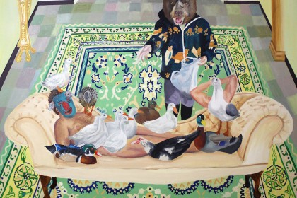 Ducks Weixin Patos Patos Patos, 2013, Oil on canvas, 150 x 120cm