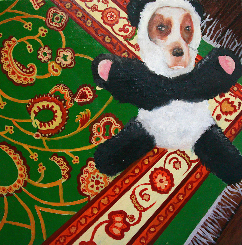 Perro in a Panda, 2013, Oil on canvas, 60 x 60cm